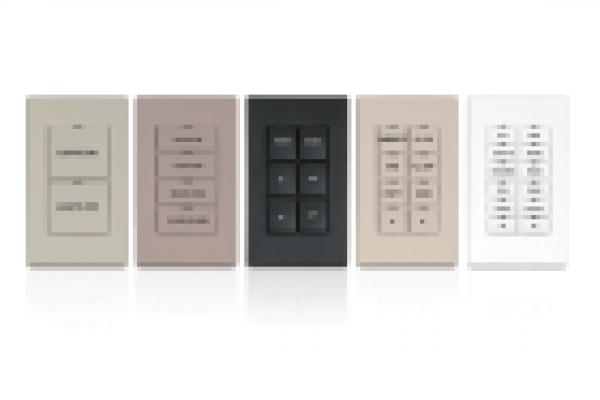 CNX-B6-W-T K  Teclado de diseño, 6 botones, textura blanca