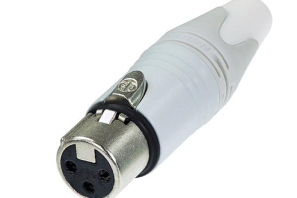 NC3FXX-WT CONECTOR XLR HEMBRA BLANCO