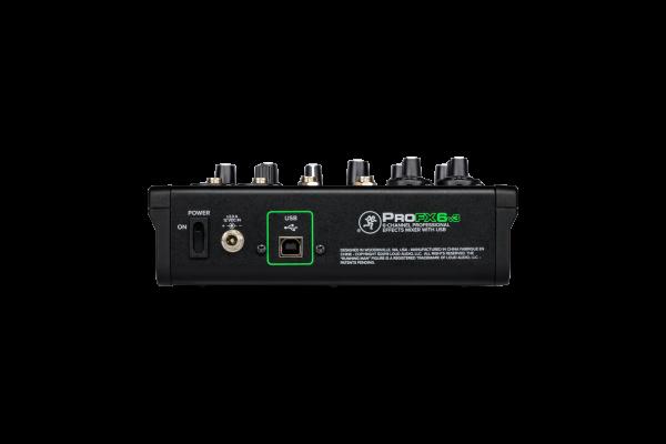 PROFX6v3 CONSOLA DE 6 CANALES CON EFECTOS Y USB